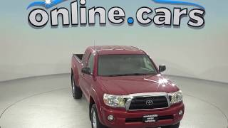 A97864GT Used 2005 Toyota Tacoma Base 4WD Red Test Drive, Review, For Sale