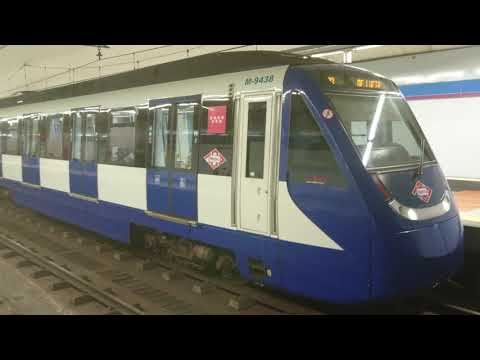 METRO LINEA 9  COLOMBIA (MADRID) (VIDEO 4K)