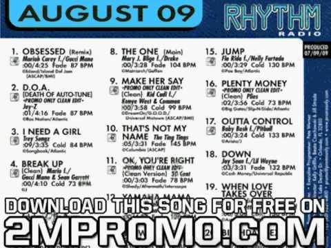 Sean Kingston Promo Only Canada Rhythm Radio August Fire Burning Jody Den Broeder Radio Edit