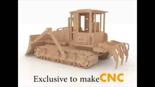 Bulldozer 3d Puzzle Cnc Router Laser Cutting Patterns Scroll Saw