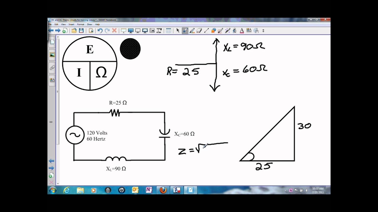 impedance and current in a series rlc circuit wmv youtube rh youtube com