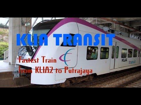 KLIA Transit Airport Train from KLIA2 to Putrajaya   Masjid Putra Malaysia