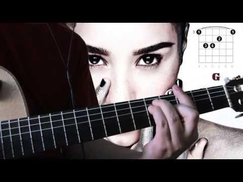 Demi Lovato - Warrior  ( guitar chords tutorial )