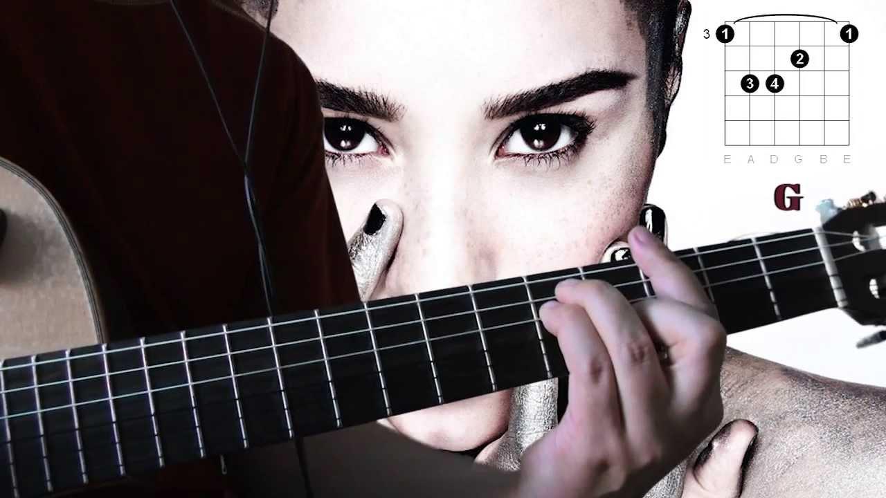 Demi Lovato Warrior Guitar Chords Tutorial Youtube