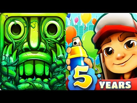 Temple Run 2 vs Subway Surfers Best Running Apps Full Gameplay