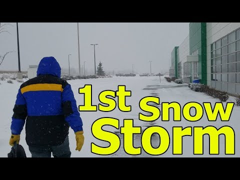 1st Snow Storm 2018 in Moncton, New Brunswick Canada