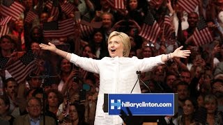 Hillary Clinton speaks after clinching the Democratic nomination
