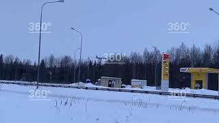 Посадка самолета рейсом Сургут   Москва после нештатной ситуации попала на видео