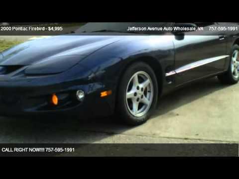 2000 Pontiac Firebird Coupe - for sale in Newport News, VA 23605