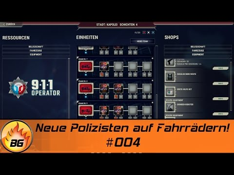 911 OPERATOR #004 | Neue Polizisten auf Fahrrädern! | Let's Play [HD]