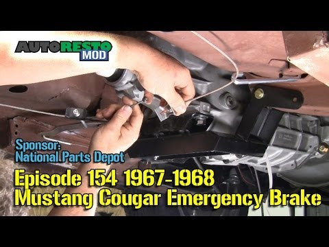 1967 1968 mustang cougar emergency brake episode 154 autorestomod