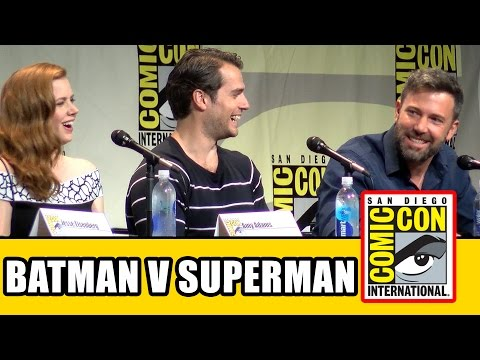 Batman v Superman Dawn of Justice Comic Con Panel - Ben Affleck Henry Cavill Gal Gadot Amy Adams