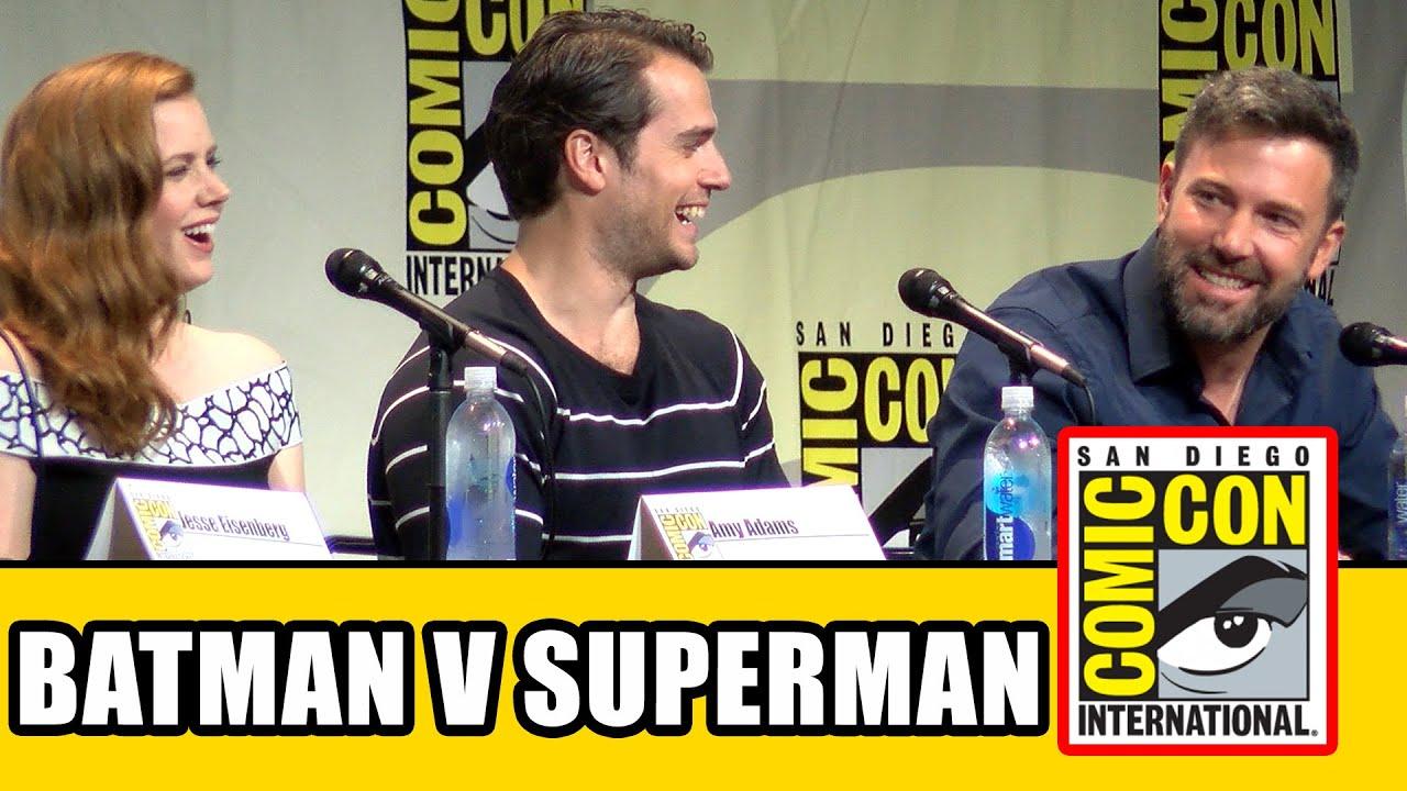 Batman V Superman Dawn Of Justice Comic Con Panel