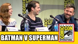 Batman v Superman Dawn of Justice Comic Con Panel - Ben Affleck, Henry Cavill, Gal Gadot, Amy Adams