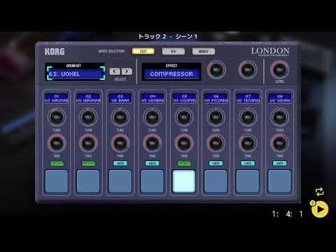 画像2: 04 04 ドラムの音を選ぶ バレッドプレス KORG Gadget for Nintendo Switch講座 www.youtube.com