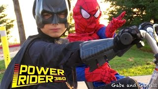 Razor Power Rider 360 SuperHero Race, Batman vs Spider-Man!!!
