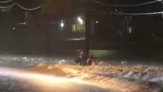 Woman rescued from raging river as flash floods strike Guangxi