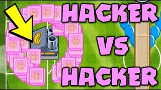 HACKER VS HACKER :: 100X HYPERSONIC BANANA FARM VS Infinite Money Hacker - Bloons TD Battles