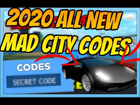 codes for mad city roblox 2020