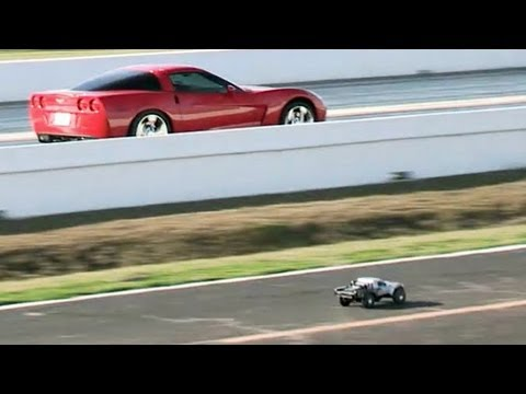 Rc Cars Vs Real Cars Youtube