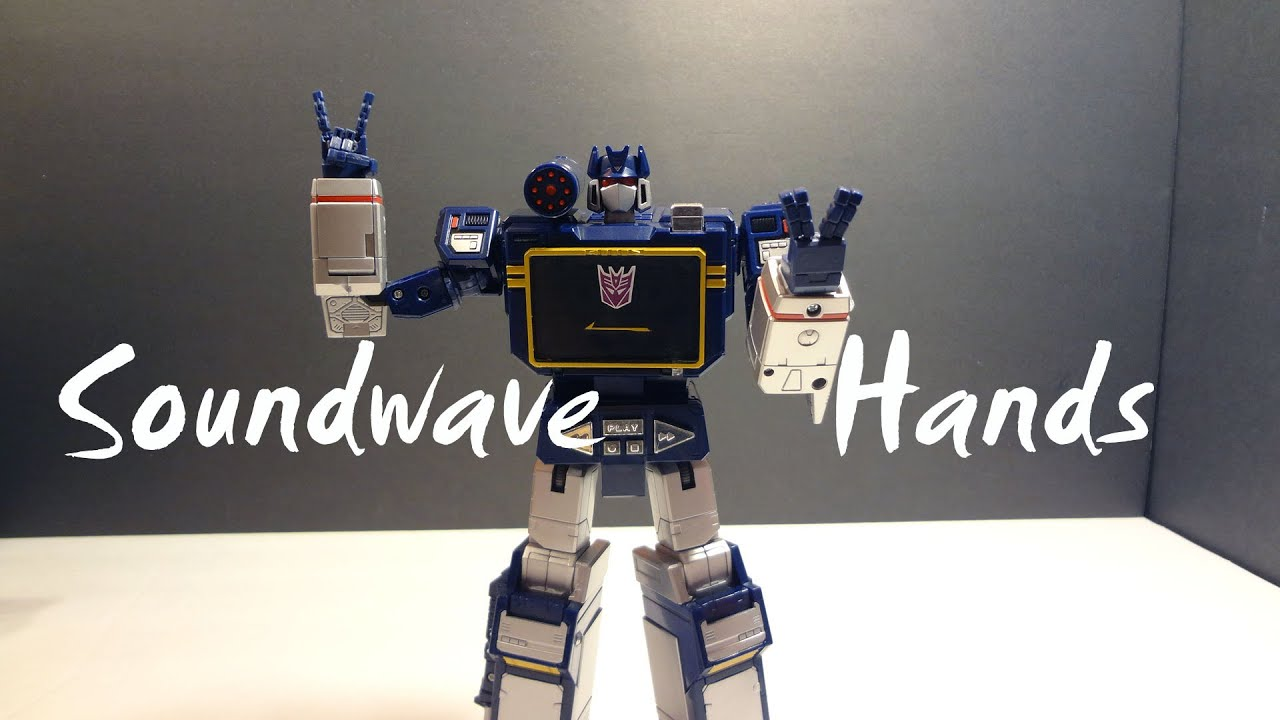 KFC KP07 Keiths Fantasy Club POSABLE HANDS FOR MP13 Soundwave In stock