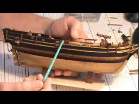 HMS BOUNTY MODEL SHIP PART 8