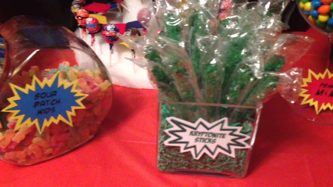 Cool Super Hero Candy Buffet Candy Bar Birthday Party