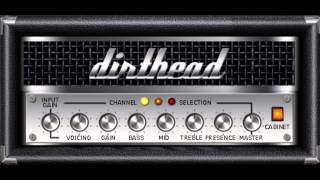 Dirthead 0.80 virtual high gain amp - Metal tone test (free vst plugin)