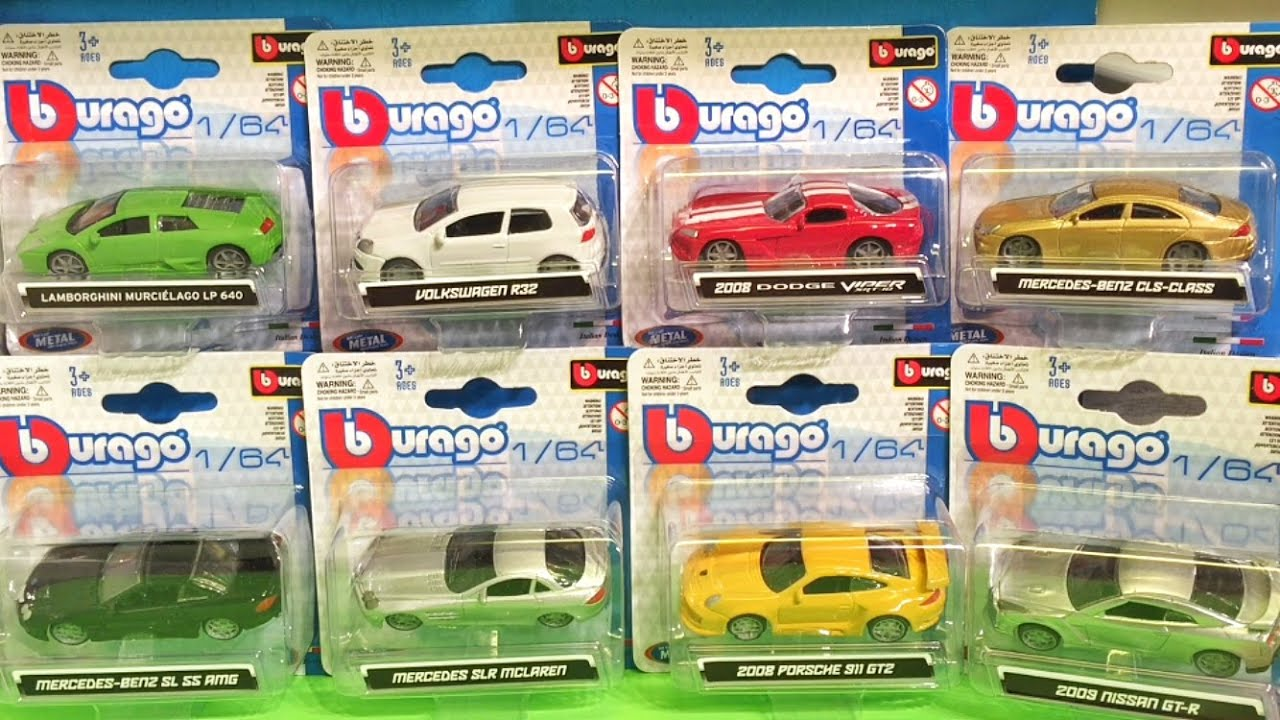 Burago 1 64 Diecast Cars 163 1 A Pop Youtube