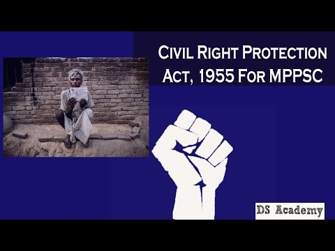 civil Rights Protection Act 1955 For MPPSC Must Watch