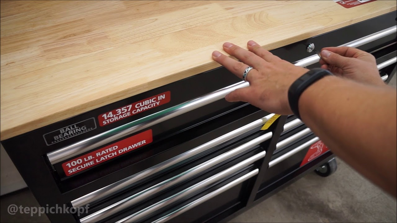 Quick Look - The Husky 46  Mobile Workbench rolling tool storage chest from Home Depot & Quick Look - The Husky 46