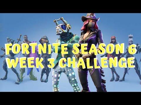 Fortnite Season 6 Week 3 Cheat Map