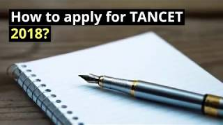 How to apply for TANCET 2018?