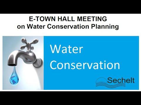 Sechelt Water Conservation Plan - Public Engagement Session