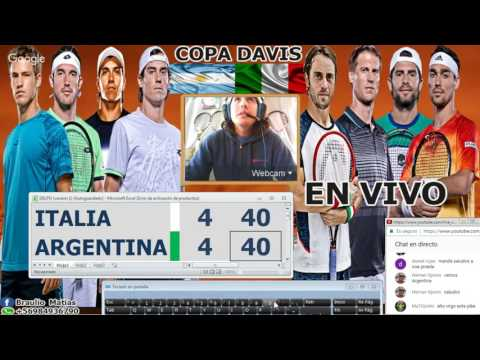 (2/2) Carlos Berlocq v Paolo Lorenzi -Argentina v Italia Copa davis 2017