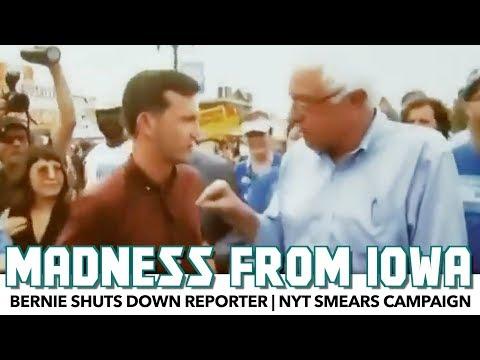 Bernie Deals With Media Madness In Iowa