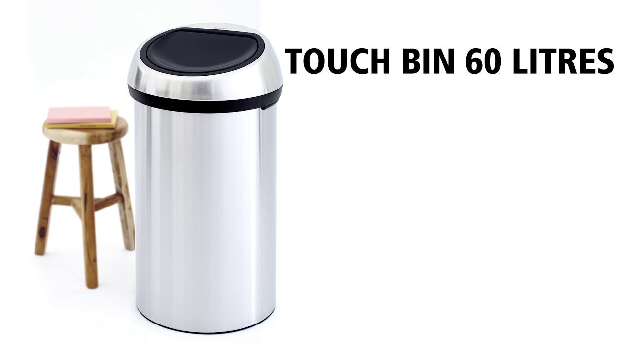 Brabantia Touch Bin 30 Liter Wit.Brabantia Touch Bin 60l