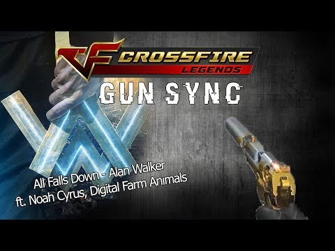 GUN SYNC   All Falls Down - Alan Walker – ft. Noah Cyrus, Digital Farm Animals