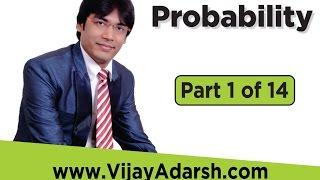 Probability - 1 of 14 by Vijay Adarsh | StayLearning |(HINDI | हिंदी)