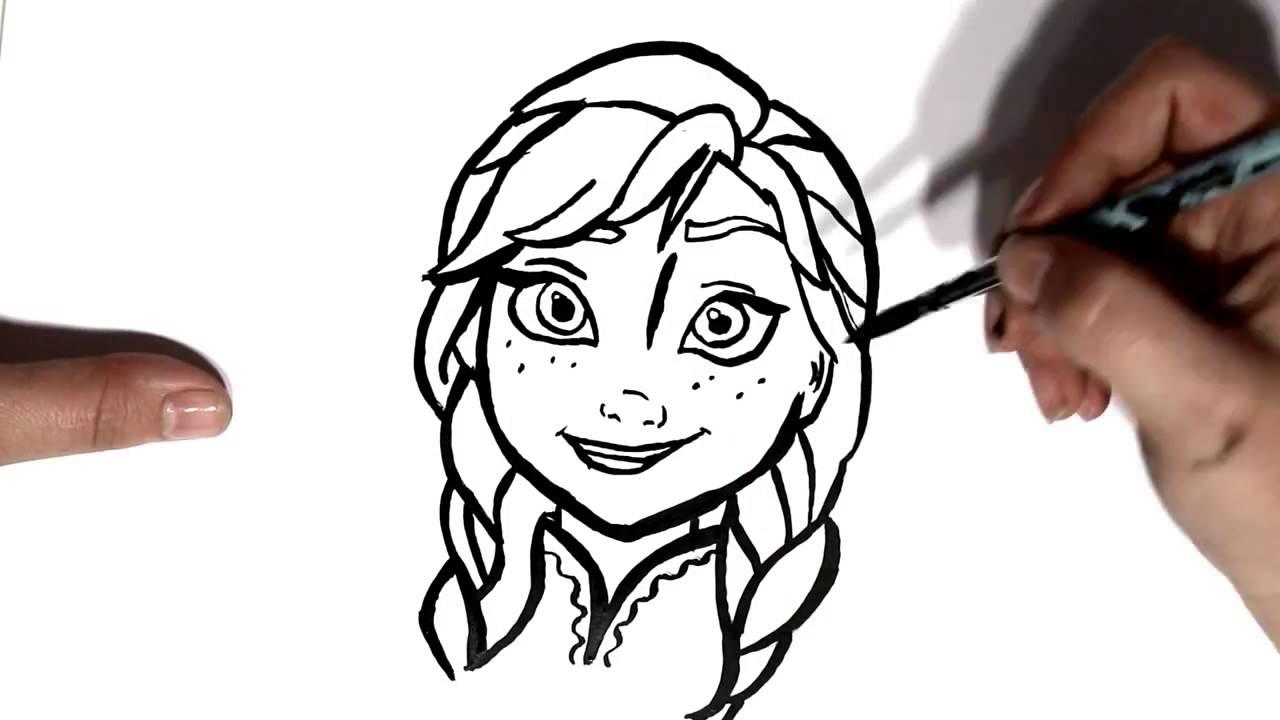 Desenho De Anna Frozen, Personagem Do Filme Frozen Uma