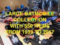 Large Batmobile Collection with 550 items from 1939 to 2017
