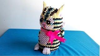 How to make a cat by 3d origami - Hướng dẫn làm con mèo bằng giấy xếp origami 3d