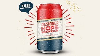 Design a Beer Can Label and Poster with Illustrator and Photoshop
