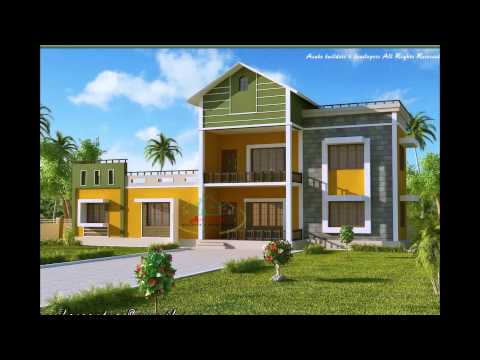 house plans with photos kerala september 2015 - YouTube