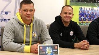 Trenerzy Truszkowski i Pulkowski po meczu Korona - Ząbkovia