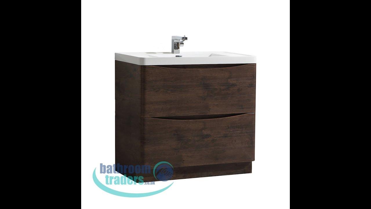 Casie Bali 900mm 2 Drawer Vanity Unit Including Basin Bathroom Traders