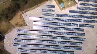 Qセルズ野立 産業用太陽光発電 空撮 byエコルート