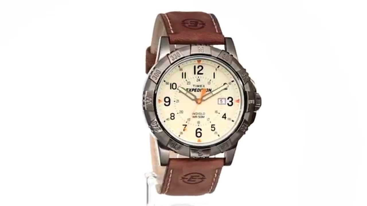 Timex Expedition Rugged Metal Field Dial Leather Strap Watch Sku 8501270