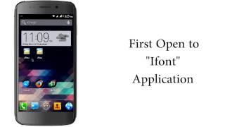 how to change font in micromax canvas 4 a210