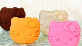 Làm Bánh Trung Thu Nhân Custard Hình Mèo Kitty